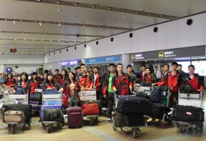 BLCI students at Beijing Airport